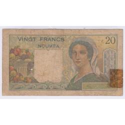 BILLET NOUMEA TAHITI 20 Francs L'art des gents Numismatique Avignon