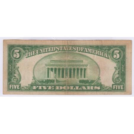 Billet usa 5 Dollars 1928 B L'ART DES GENTS