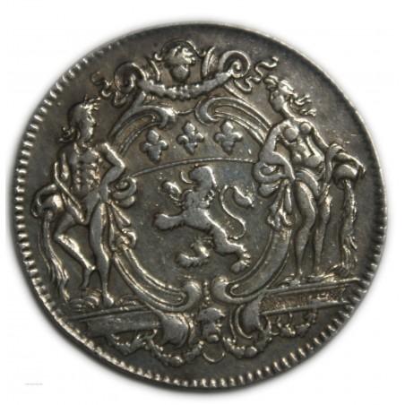 JETON Argent Officiers et Noblesse de Lyon 1715 TTB