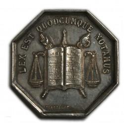 JETON Argent Notaires de Lyon XIXème SUPERBE LARTDESGENTS.FR