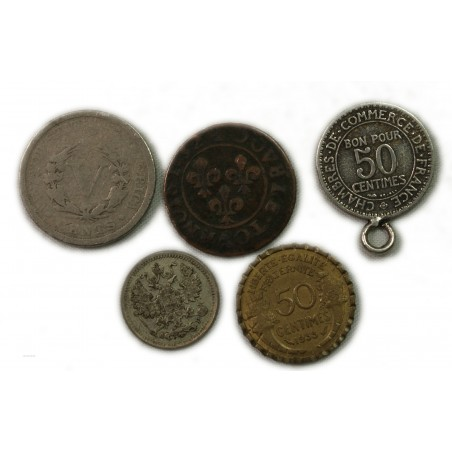 lot de diverses monnaies (curiosités) lartdesgents Avignon