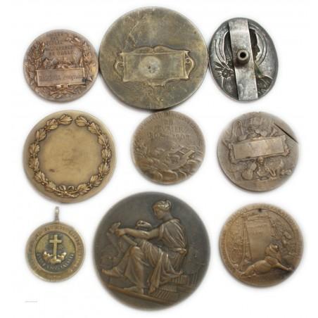 lot de 9 Médailles à voir... (1) lartdesgents Avignon