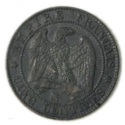 Napoléon III 5 centimes 1857 MA Marseille