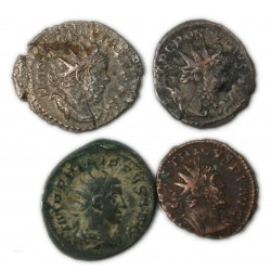 ROMAINE -Lot  d'Antoniniens Postume, Tétricus, Philippe II