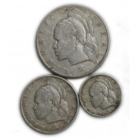 AFRIQUE LIBERIA, Lot de 50,25 cents 1960 et 10 cents 1961