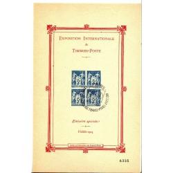 Rare Bloc-Feuillet n° 1- 5F. BLEU Oblitération (EXPO PARIS 1989)
