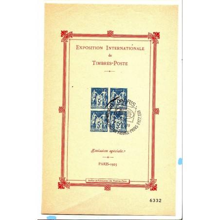 Rare Bloc-Feuillet n° 1- 5F. BLEU Oblitération (EXPO PARIS 1989) 2)