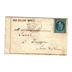 Siège de Paris: Ballon monté 15 octobre 1870, lartdesgents Avignon