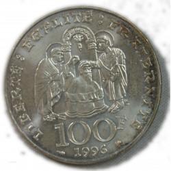 100 Francs 1996 CLOVIS  argent 900/00  15grs