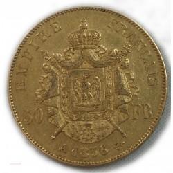 Napoléon III, 50 Francs or 1856 A Paris, lartdesgents.fr Avignon