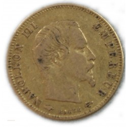 Napoléon III, 5 Francs or 1858 A Paris, lartdesgents.fr Avignon
