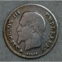 FRANCE NAPOLEON III- 20 Centimes  1860 BB Strasbourg Paris TB cote 20€