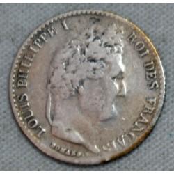 FRANCE LOUIS PHILIPPE Ier 1/4 franc 1845 B Rouen , lartdesgents.fr