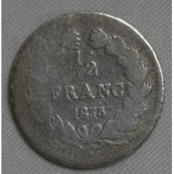 FRANCE Louis Philippe Ier 1/2 Franc 1835 A Paris , lartdesgents.fr