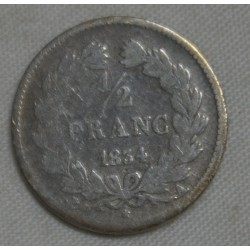 FRANCE Louis Philippe Ier 1/2 Franc 1834 A Paris, lartdesgents.fr