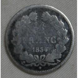 FRANCE Louis Philippe Ier, 1/2 Franc 1834 A Paris (2), lartdesgents.fr