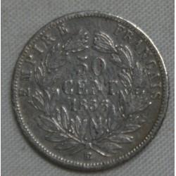FRANCE Napoléon III, 50 centimes 1856 BB, lartdesgents.fr