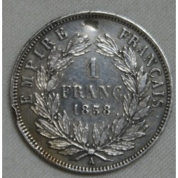 Napoléon III, 1 Franc 1858 A Paris, lartdesgents.fr