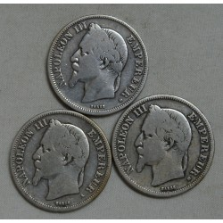 Napoléon III lot de 2 Francs 1867 BB & 1868 A & BB lartdesgents.fr