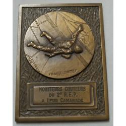 Médaille plaque Moniteurs chuteurs du 2° R.E.P.  par FRAISSE-DEMEY