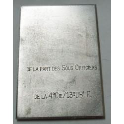 Médaille plaque Légion étrangère poste lietenant colonel de SAIRIGNE