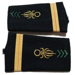 2 fourreaux d'épaules grade galon sous lieutenant légion étrangère