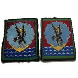 2 x Insignes tissus 11° DP Division Parachutiste