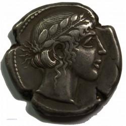Tétradrachme LEONTINI vers 450 av. J.C. TTB
