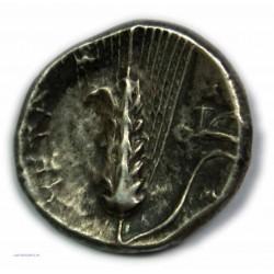Didrachme/Statère LUCANIE METAPONTE, 4e siècle av. J.C. TTB/TB