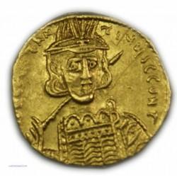 Solidus CONSTANTIN IV  Pogonatus avec ses frères HERACLIUS ET TIBERE 668 à 680 AP.  J.C.