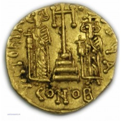 Solidus CONSTANTIN IV avec ses frères HERACLIUS ET TIBERE 668 à 680 AP.  J.C.