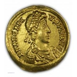 Solidus ARCADIUS 383-395 AP.  J.C. à Ravennes SUPERBE