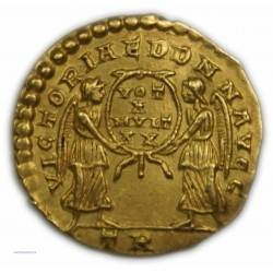 Solidus CONTANS Ier, 337 à 350 AP.  J.C. à Ravenne, SUPERBE - lartdesgents.fr