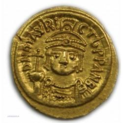 Solidus MAURICE TIBERE, 582 à 602 AP.  J.C. Carthage, SUPERBE R3 - lartdesgents.fr