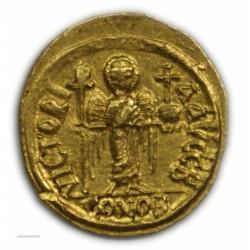 Solidus MAURICE TIBERE, 582 à 602 AP.  J.C. Carthage, SUPERBE R3 lartdesgents.fr