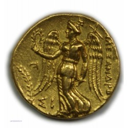 Statère d'or ALEXANDRE III (SIDON Ménès) 324/3 av. J.C. Superbe