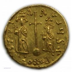 Solidus CONTANS II ET SES FILS (Pogonatus), 641 à 668 AP.  J.C. SUP RARE lartdesgents.fr