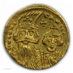 Solidus CONTANS II ET SES FILS (Pogonatus), 641 à 668 AP.  J.C. SUP RARE