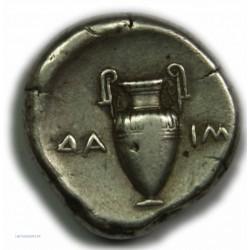 Statère BEOTIE - THEBES, 379-338 av. J.C. Très Beau à Superbe