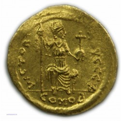 Solidus JUSTIN II, 565-578 AP.  J.C. Très Beau - lartdesgents.fr