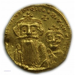 Solidus de CONSTANS II & CONSTANS IV (Constantinople) 664-668 AP. TTB