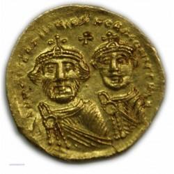 Solidus de HERACLIUS ET HERACLIUS CONSTANTIN (Constantinople), 613-630 AP. TTB