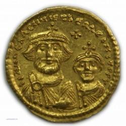 Solidus de HERACLIUS & HERACLIUS CONSTANTINE, 610-641 AP.  J.C. SUPERBE