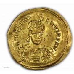 Solidus de JUSTINIEN Ier, 527-565 AP.  J.C. Très Beau