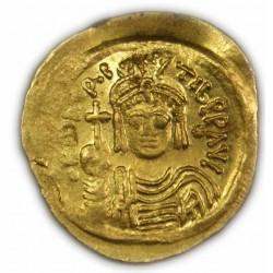 Solidus de MAURICE TIBERE,582-602 AP.  J.C. TTB