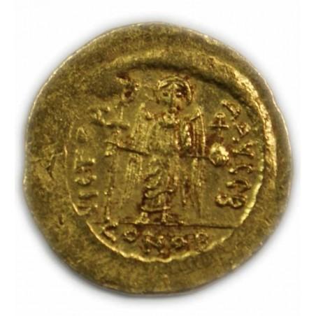 Solidus de MAURICE TIBERE,582-602 AP.  J.C. (2) TTB