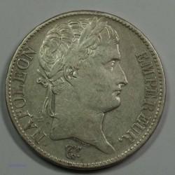 EMPIRE - Napoléon Empereur 5 Francs 1808A Paris, TTB