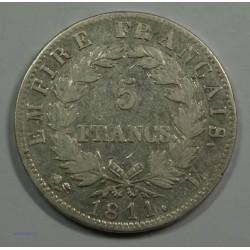 EMPIRE - Napoléon Empereur 5 Francs 1811 L Bayonne, TTB