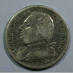 Restauration - LOUIS XVIII 5 Francs 1814 L Bayonne,TB, lartdesgents.fr