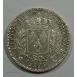 Restauration - LOUIS XVIII 5 Francs 1815/4 L Bayonne,TB+, lartdesgents.fr